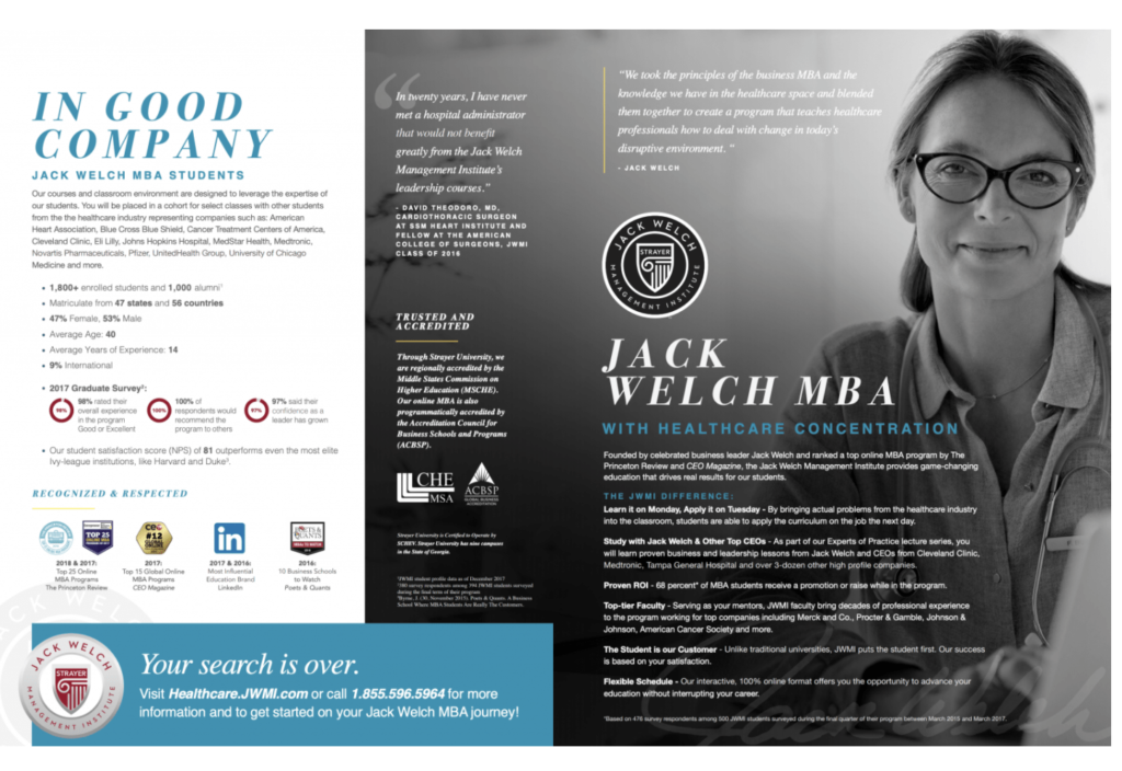 Jack Welch Management Institute Social Proof
